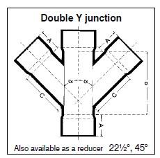 Double Y-Junction uPVC 45° – TTS Africa