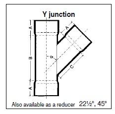 Reducing Y-Junctions uPVC 45° – TTS Africa